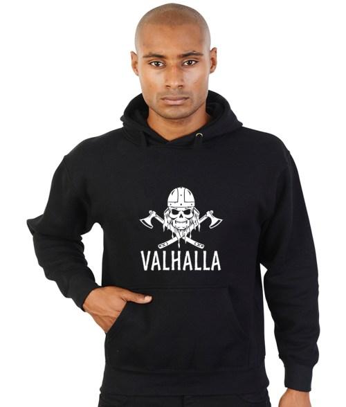 valhalla viking skull hoodie
