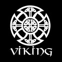 viking with shield pattern pagan shirt