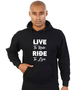 live to ride ride to live biker hoodie