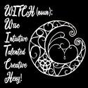 witch noun with pentagram ladies pagan design