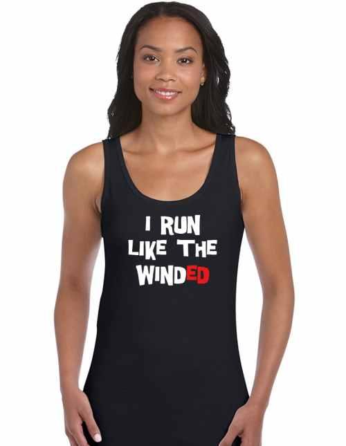 i run like the winded funny slogan shirt