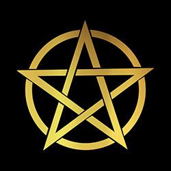 pagan pentacle design