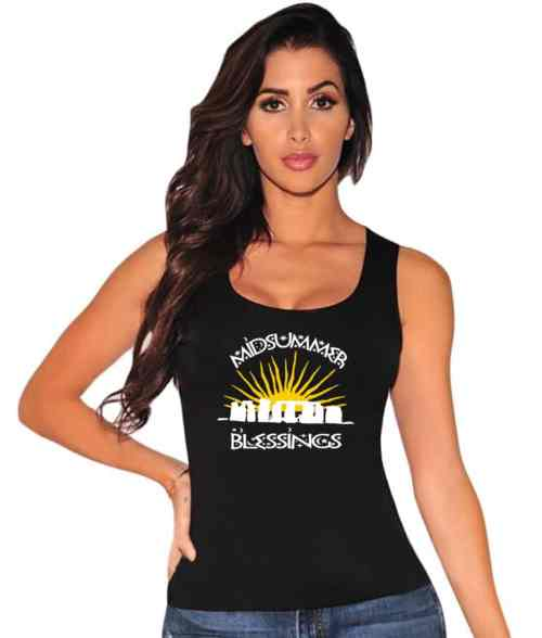 midsummer blessings ladies pagan vest top