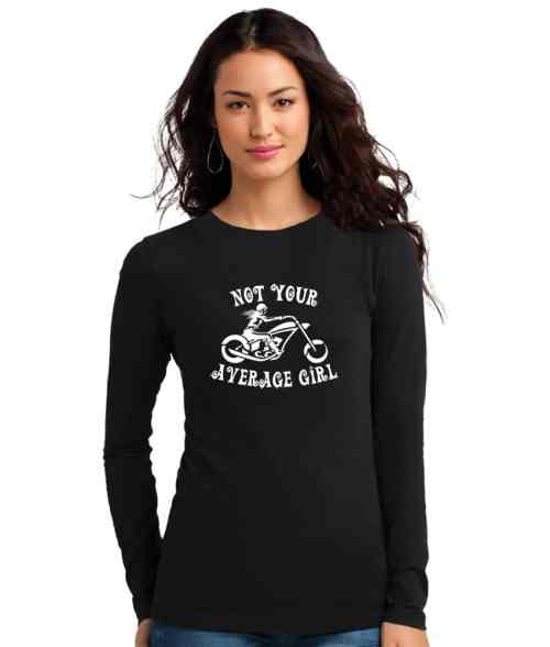 not your average girl ladies biker top