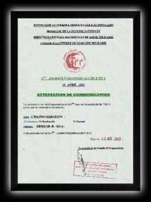 6eme jornée paramédicale de l'HCA ALGER du 11 avril 2012