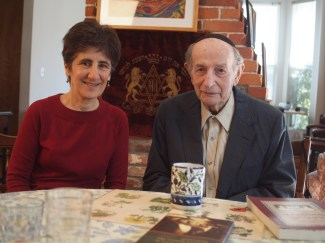 Jane Myers with Rabbi Gold for Yiddish Book Center's Wexler Oral History Project interview, Oct. 2013