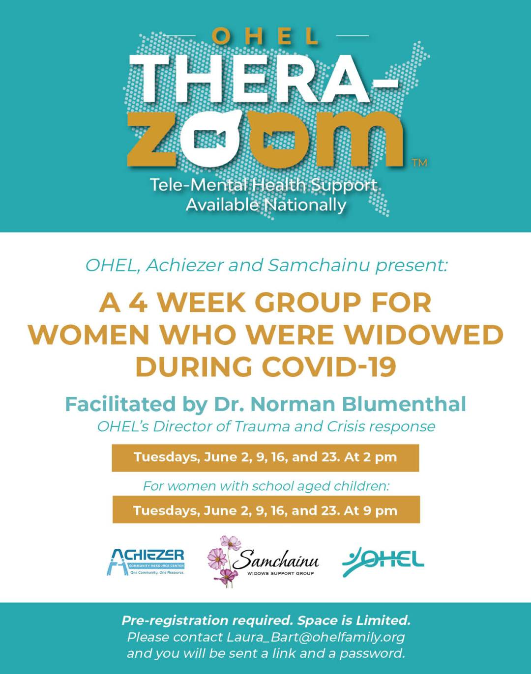 OHEL TZ Group for Covid 19 Widows MAY 26