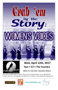 Read more about the article RB55: Grab 'Em by the Story – Women's Voices