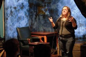 """Read more about the article Red & Black Feature: """"Monthly storytelling series encourages locals to share personal stories"""""""