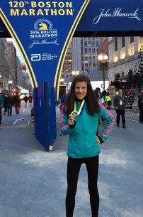 Boston Marathon FInish with Medal