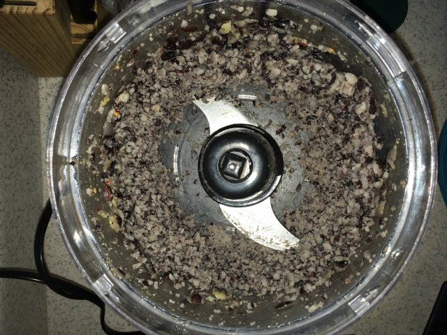 If using bulk beans, grind in a food processor