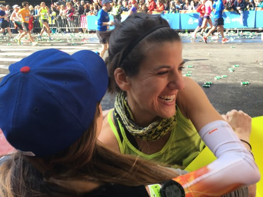 One of my favorite race photos ever- giving Cheryl a big hug