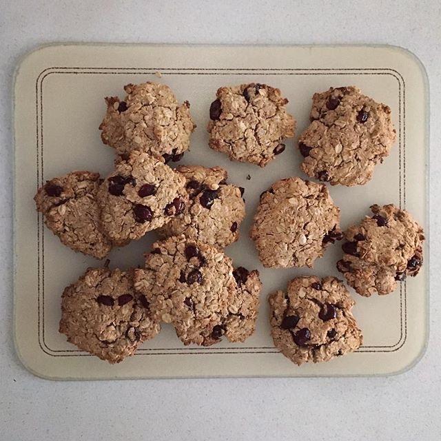 Sweet potato breakfast cookies cooling