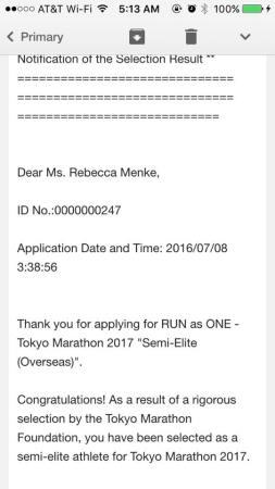 2017 tokyo marathon confirmation