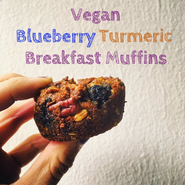 Vegan Blueberry Turmeric Muffins
