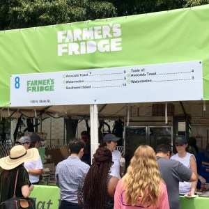 2017 Taste of Chicago Vegan Options Fridge
