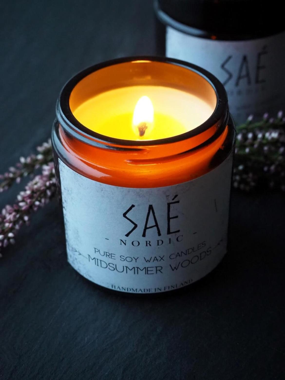 Luonnonmukainen tuoksukynttila SAE Nordic