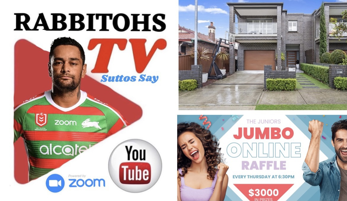LIVE TODAY – Suttos Say 3.30pm | Reynos Home Auction 6.30pm | Juniors Jumbo Online Raffle 6.30pm