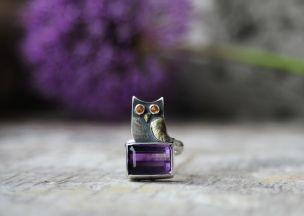 vikafo owl ring