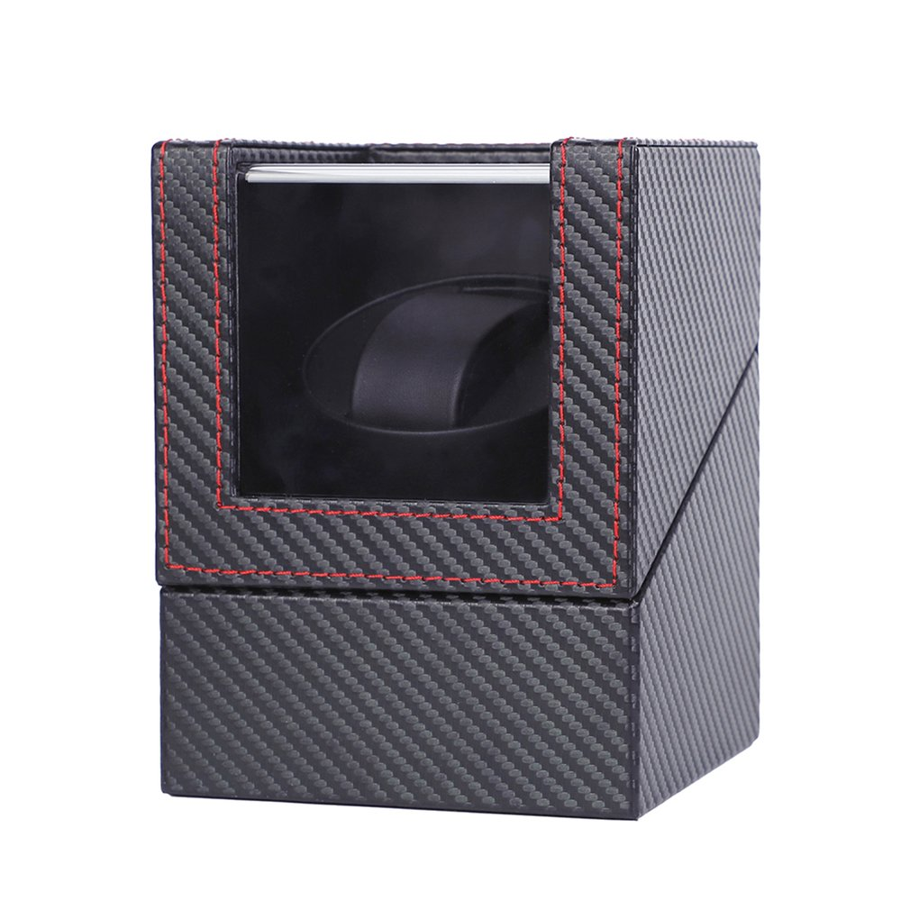 Carbon Motor Shaker Watch Winder Holder Display Automatic Mechanical Watch Winding Box Jewelry Automatic Watch