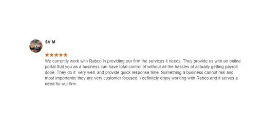 SV M Rabco Google Review