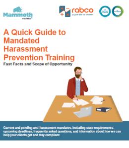 Mandated Harassments Prevention