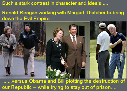 Reagan and Thatcher vs Obama and Clinton