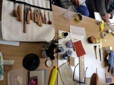 Japanese woodcut materials