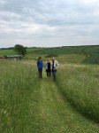 Katherine Jones with Sara Lee exploring Rabley environs.