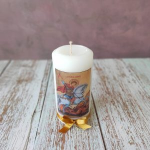 "Декупирана свещ ""Св. Георги"" C2099 – средна"