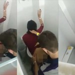 Image Casal bêbado é filmado por amigos em momento intimo no banheiro da balada