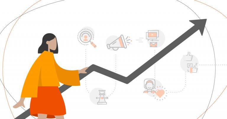mulher aprendendo sobre como ter lucro com estratégias de mobile marketing