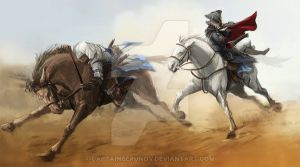 Look son! This is how a Kenway rides a horse!