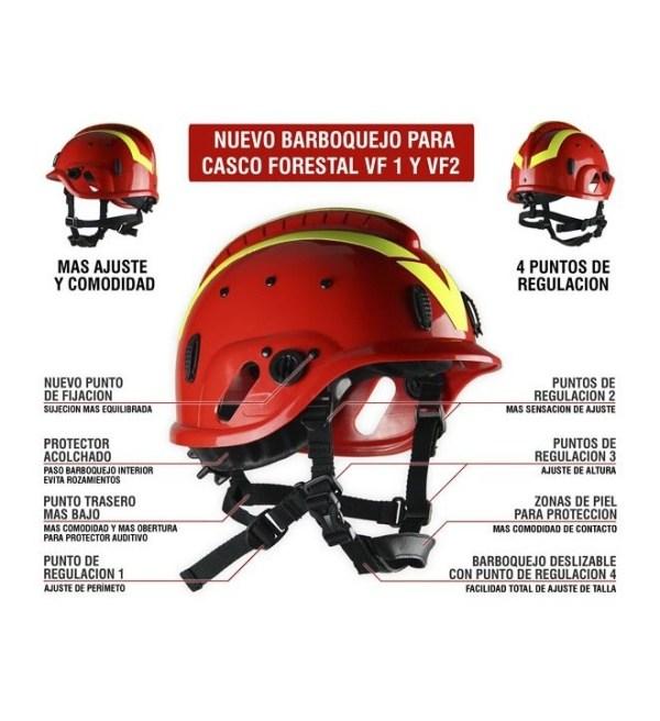 CASCO BOMBERO FORESTAL VF1 COLORES