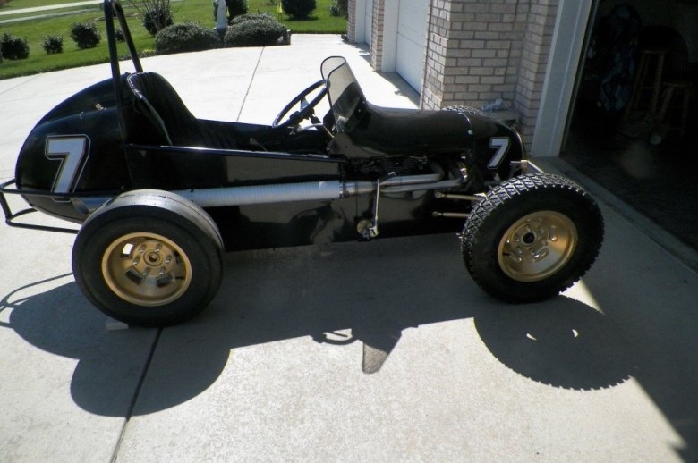 1960's Style Midget Open Wheel Circle Track Vintage Race Sprint Car #7 for sale