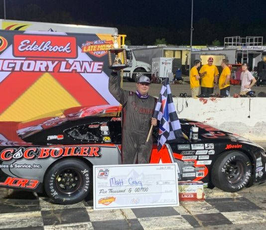 Matt Craig in Hickory Motor Speedway Victory Lane
