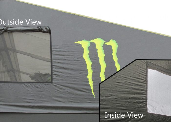 Available Removable End Panels Option for Canopies