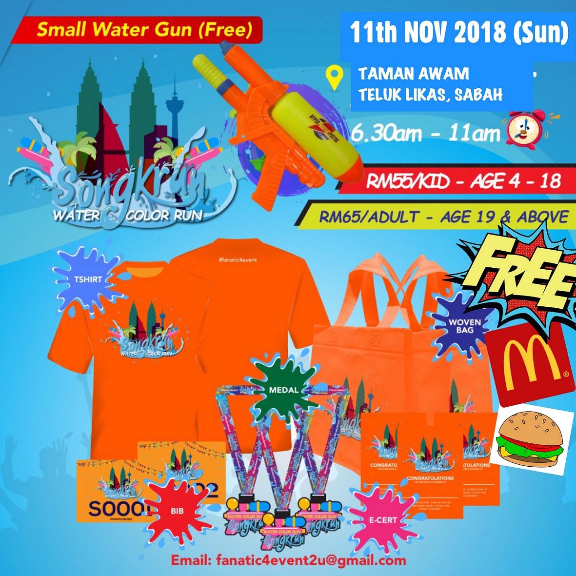 Songkrun Water Color Run 2018 - Race Connections