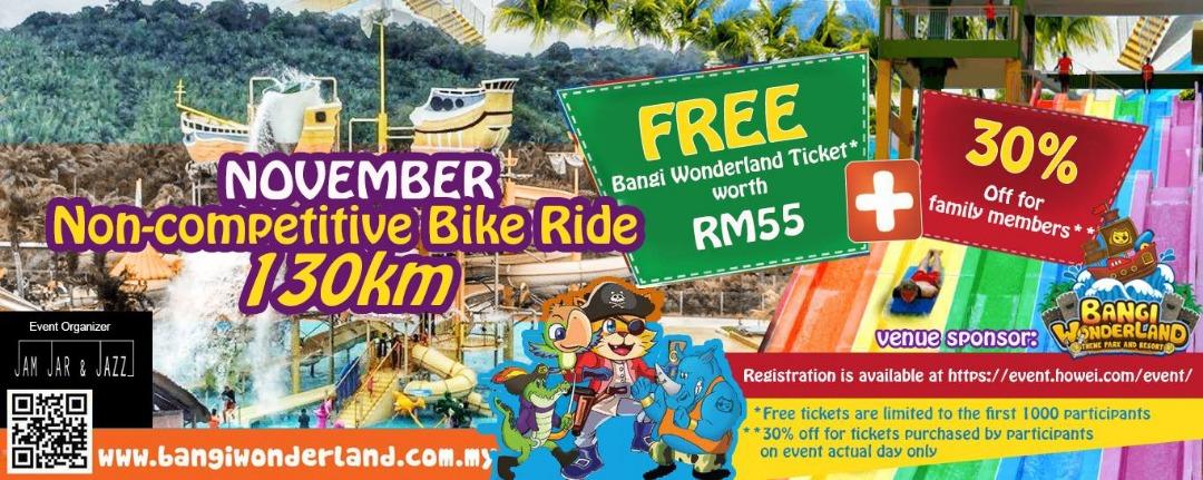 Bangi Wonderland Non-Competitive Ride - 130km - Race Connections