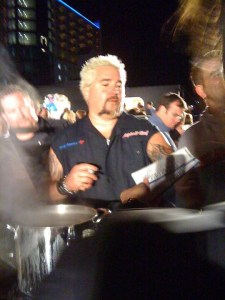Asphalt Chef Celebrity Cooking Competition at Texas Motor Speedway. That's Guy Fieri!