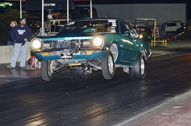 Mac Garcia gets the wheels up on his little Maverick. Photo by JM Hallas