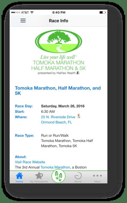 Tomoka Race Info Page