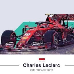 Charles Leclerc 2019 F1 Art