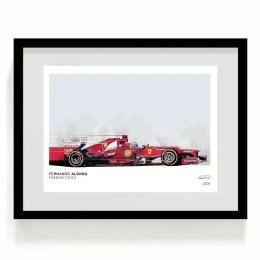 Fernando Alonso Ferrari F1 Art