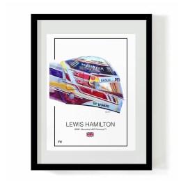 Lewis Hamilton 2018 helmet f1 art