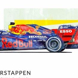 Max Verstappen F1 Art Red Bull Print 2