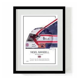 Nigel Mansell F1 Art