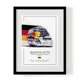Sebastian Vettel F1 Art