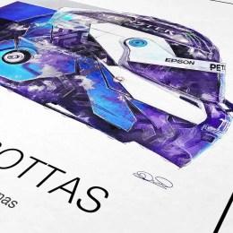 Valtteri Bottas F1 art