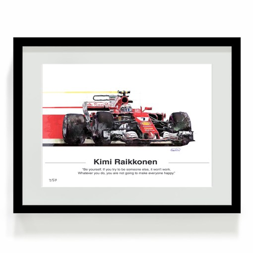 Kimi Raikkonen F1 Art Ferrari Art 1